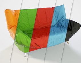 3D asset PBR Customizable Futon Sofa