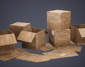 3D asset Card Boards Low Poly Game Ready