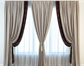 Set 02 Classic curtain 3D model