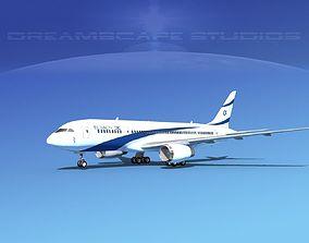 Boeing 787-8 El Al 3D