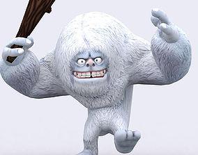 3DRT-Toon Yeti monster animated
