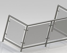Balcony fence 3D model