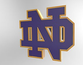 University of Notre Dame Logo 3D model