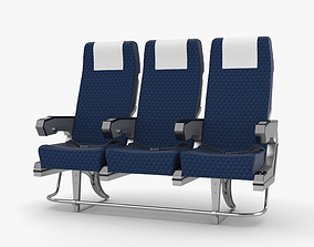 3D model Airplane Seats aeroplane