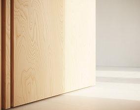 Birch Plywood veneer texture 3D model
