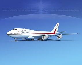 3D model Boeing 747-100 Wardair Canada