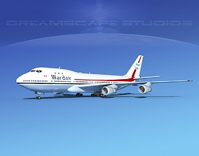 3D model Boeing 747-100 Wardair Canada