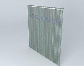 translucent shower curtain 3D
