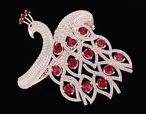 1515 Diamond Peacock Bangle 3D printable model