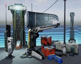 3D model realtime Sci - Fi Props Exterior Pack