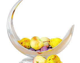 Fruits in a Beautiful Metal Vase 3D model