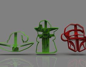 The Mandalorian cookie cutter Xmas 3D printable model