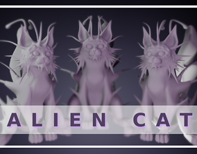 Alien Cat Old 3D print model