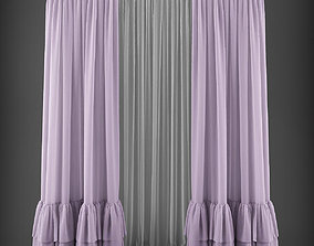 realtime Curtain 3D model 253 VR