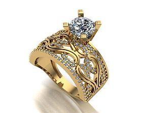 3D printable model gem wedding ring