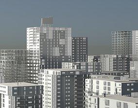 25 LOWPOLY BUILDING PACK 3D asset