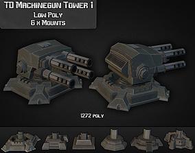 TD Machinegun Tower 01 3D model