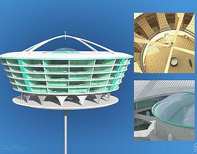 3D Futuristic Architecture Skyscraper 02