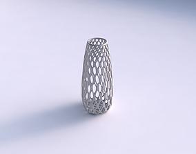 3D print model Vase Bullet with bubble grid lattice