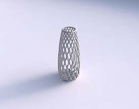 3D print model Vase Bullet with bubble grid lattice