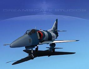 Douglas A-4D Skyhawk V19 USN Aggr 3D model