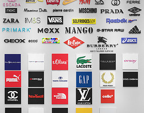 58 Fashion Brands 3D Logos