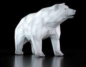 bear lowpoly 3D asset