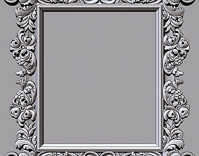 Mirror classical carved frame - set 3 3D print model