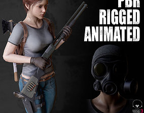 3D asset animated Female Survivor