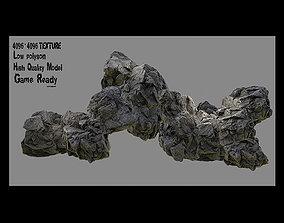 flint Rocks 3D asset realtime