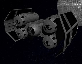 3D asset realtime STAR WARS - TIE PUNISHER