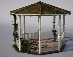 3D model realtime wooden pergola