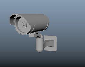 3D asset VR / AR ready CCTV Security Camera
