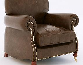 BALMORAL leather armchair 3D
