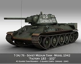 3D T-34-76 - Model 1942 - Soviet medium tank - 102