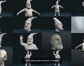 Print ready Garden Gnome 3D model