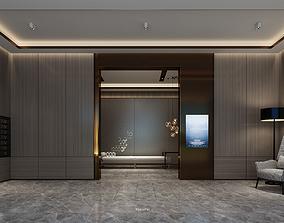Residential hall 3D model