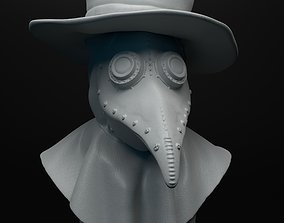 Plague doctor bust intended for 3D printing