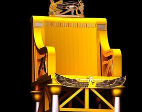 Ancient Egyptian Armchair 3D model