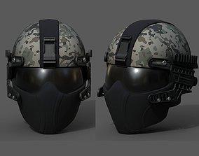 Helmet scifi military combat 3d model low poly realtime