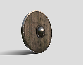 3D model realtime Medieval Round Shield