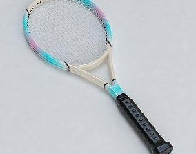 3D asset Tennis Racket 01