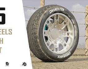 dusty modern sport car low 3d wheels VR / AR ready
