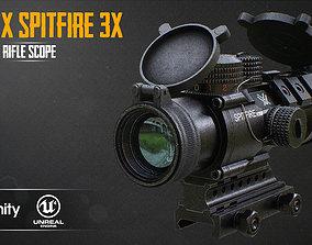 3D asset VORTEX SPITFIRE 3x Scope