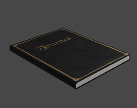 Old Book 3D model VR / AR ready