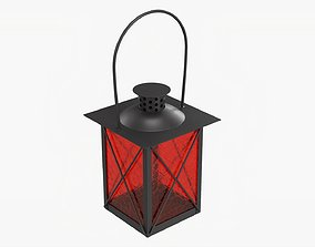 3D model Metal lantern with windows and handle