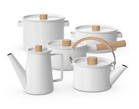 3D model Kaico Enamel kitchenware set