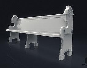 3D Church Pew boney