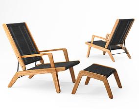 3D Oasiq Skagen Adjustable Deck Chair