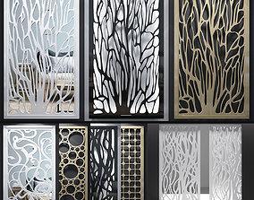 Decorative screens 01 3D model